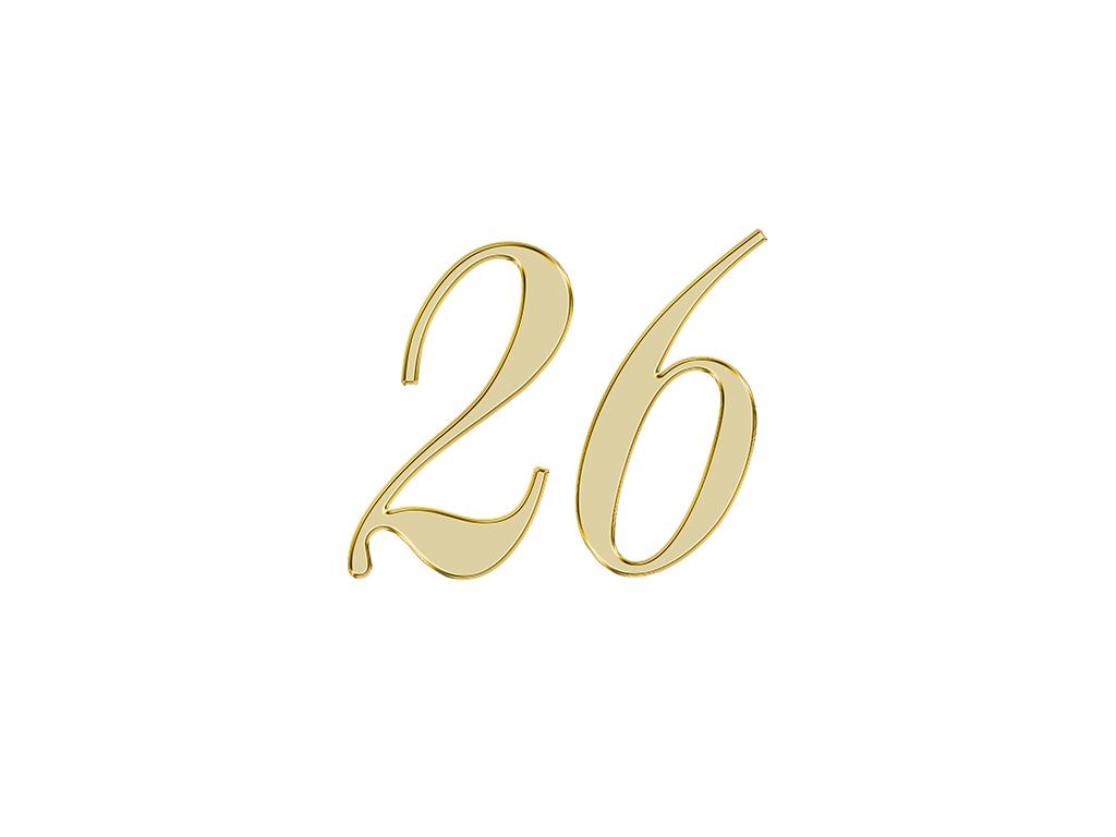 エンジェルナンバー 26